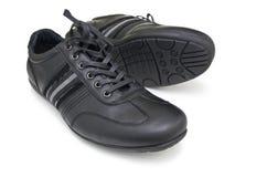 Chaussures noires de sport Photo libre de droits