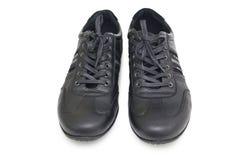 Chaussures noires de sport Image libre de droits