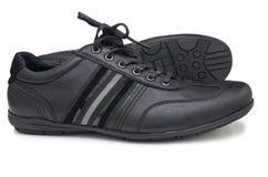 Chaussures noires de sport Photos libres de droits