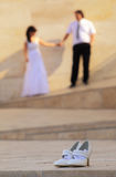 Chaussures nuptiales Image stock