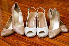 Chaussures nuptiales de partie Images stock