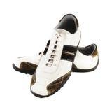 Chaussures occasionnelles sur le blanc Photographie stock libre de droits