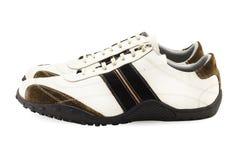 Chaussures occasionnelles sur le blanc Photos libres de droits