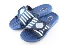 Chaussures ouvertes de bleu. Photos stock