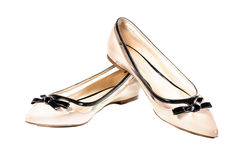 Chaussures, paires de chaussures femelles beiges Image stock