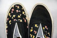 Chaussures peintes fabriquées à la main Image libre de droits