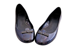 Chaussures plates de ballet de femme Photographie stock libre de droits
