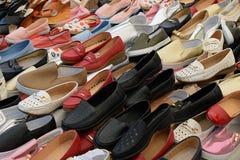 Chaussures plates pour des femmes Photographie stock libre de droits