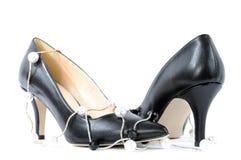 Chaussures pour des femmes avec le talon haut Photographie stock
