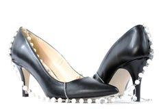 Chaussures pour des femmes avec le talon haut Photos stock