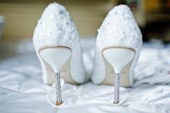 Chaussures pour la mariée Photographie stock