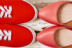 Chaussures pour marcher et courir Photos libres de droits