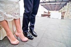 Chaussures pour un mariage Image libre de droits