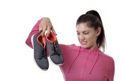 Chaussures puantes d'oit de travail Image libre de droits