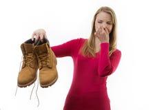 Chaussures puantes sales Image libre de droits