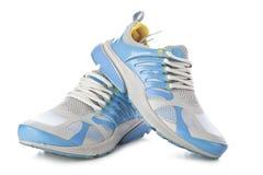 Chaussures pulsantes bleues Images libres de droits