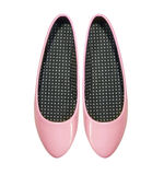 Chaussures roses d'été d'isolement sur le blanc Images libres de droits