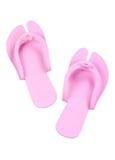 Chaussures roses de plage d'isolement sur le blanc image stock
