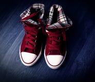 Chaussures rouges élégantes Photos stock