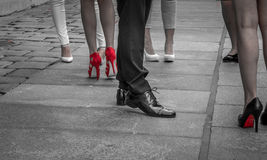 Chaussures rouges Photographie stock