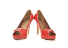 chaussures rouges Photo libre de droits