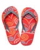 Chaussures rouges de plage image stock