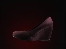 Chaussures rouges de suède Photo stock