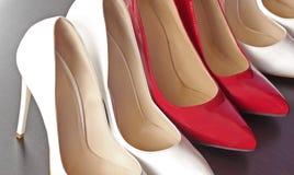 Chaussures rouges et blanches Images libres de droits