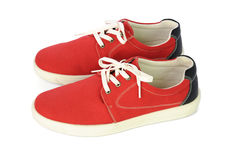 Chaussures rouges islated sur le fond blanc Images stock