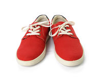 Chaussures rouges islated sur le fond blanc Photos stock