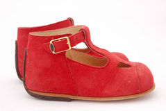 Chaussures rouges pour des gosses Image stock