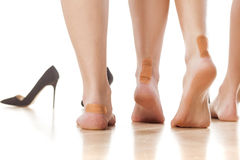 Chaussures serrées images libres de droits