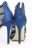 Chaussures sexy bleu-foncé de partie Image libre de droits