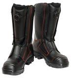 Chaussures spéciales de sécurité incendie Photos libres de droits