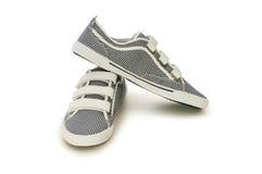 Chaussures sportives d'isolement sur le blanc Photos stock
