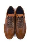 Chaussures sportives d'isolement sur le blanc Image stock