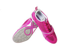 Chaussures sportives roses Images libres de droits