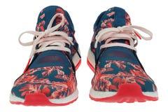 Chaussures sportives sur un fond blanc Images stock