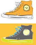 Chaussures stylisées de sport Photos stock