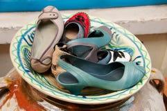 Chaussures sur le système de viseur image stock