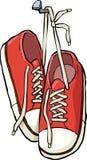 Chaussures sur un clou illustration de vecteur