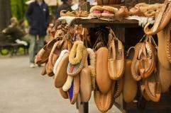 Chaussures traditionnelles serbes photos libres de droits