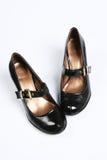 Chaussures vernies noires femelles Images libres de droits