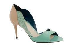 Chaussures vertes Photographie stock libre de droits