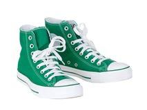 Chaussures vertes de cru Photos libres de droits