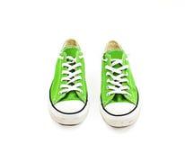 Chaussures vertes de cru Images stock