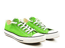 Chaussures vertes de cru Photos stock