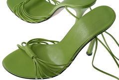 Chaussures vertes fraîches Images stock