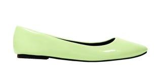 Chaussures vertes sur le blanc Photos libres de droits