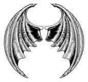 Chauve-souris ou Dragon Wings Design illustration de vecteur